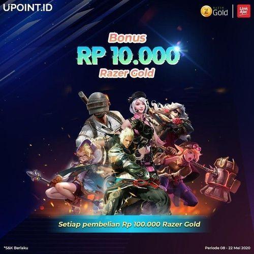 LINKAJA PROMO BONUS 10.000 BELANJA RP 100.000 RAZER GOLD DI UPOINT.ID (26126223) di Kota Jakarta Selatan