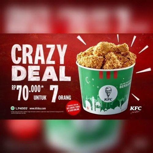 KFC PAKET Crazy Deal MAKAN BER-7 HANYA RP 70.000 SAJA (26126331) di Kota Jakarta Selatan