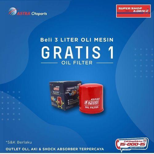 Shop And Drive Beli 3 Liter Oli Mesin Gratis 1 Oli Filter (26126511) di Kota Jakarta Selatan