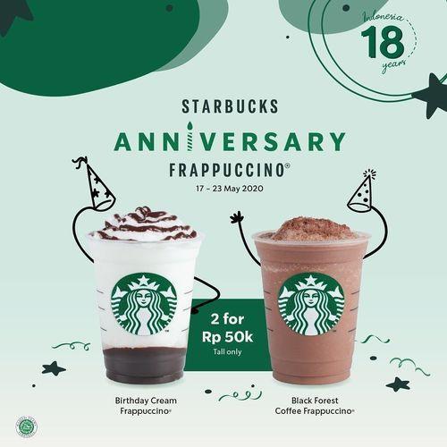 STARBUCKS ANNIVERSARY TREATS POTONGAN 50% (26126879) di Kota Jakarta Selatan