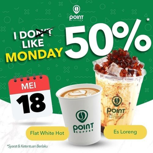 INDOMARET POINT CAFE 50% Discount #FAVORITE MONDAY (26126915) di Kota Jakarta Pusat