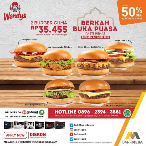 Wendy's Berkah Buka Puasa Disc. 50% (26134723) di Kota Jakarta Selatan