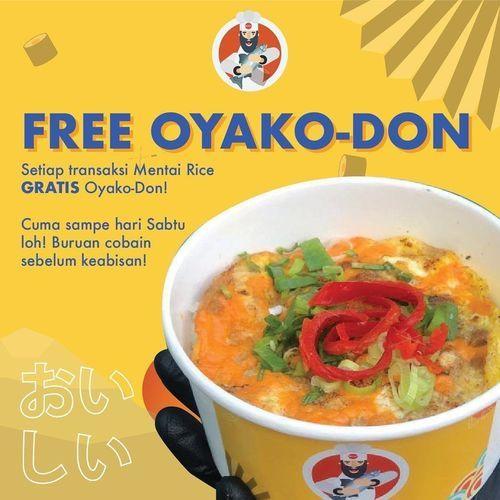 MENTAISHI Promo GRATIS Oyako-Don setiap transaksi Mentai Rice (26140623) di Kota Jakarta Selatan