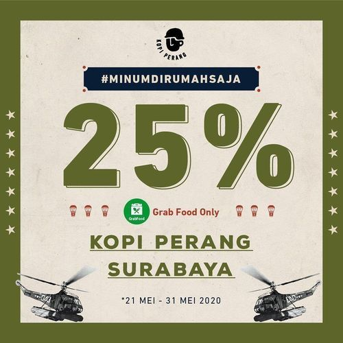 KOPI PERANG PROMO DISKON 25% KHUSUS GRABFOOD - CITRALAND SURABAYA (26140811) di Kota Surabaya