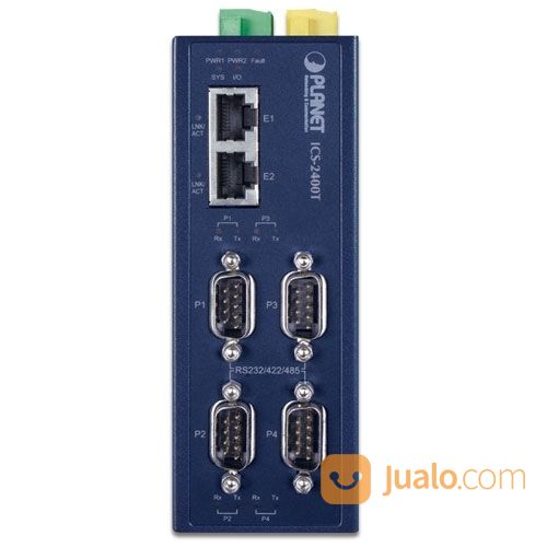 PLANET ICS-2400T Industrial 4-Port RS232/RS422/RS485 Serial Device Server (26145723) di Kota Jakarta Pusat
