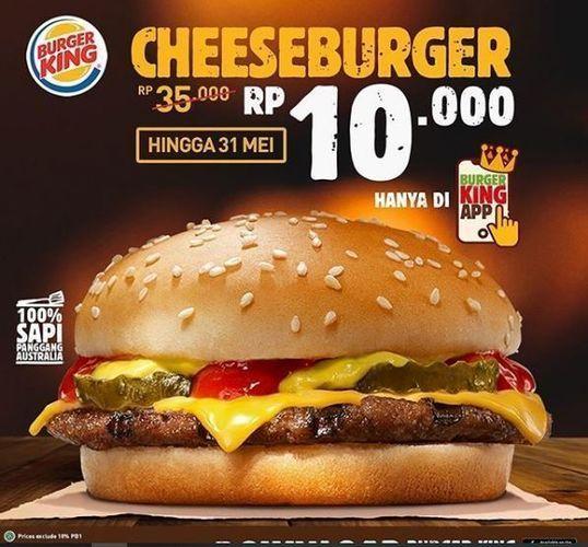 Burger King - Promo Cheeseburger (26178851) di Kota Jakarta Selatan