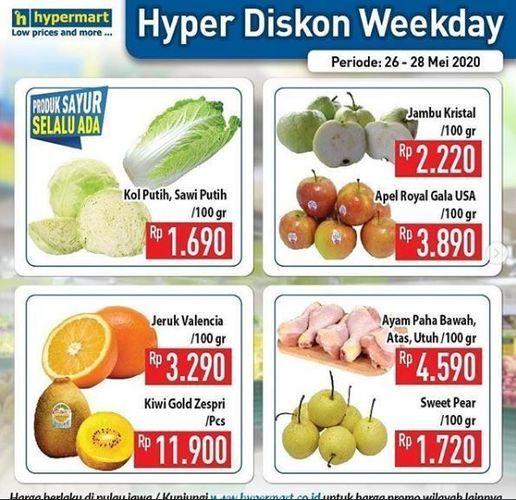 Hypermart - Promo Weekday Discount (26179259) di Kota Jakarta Selatan