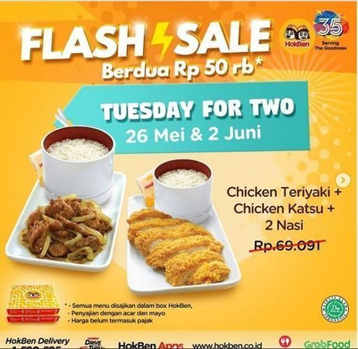 HokBen - Promo Tuesday for Two (26179643) di Kota Jakarta Selatan