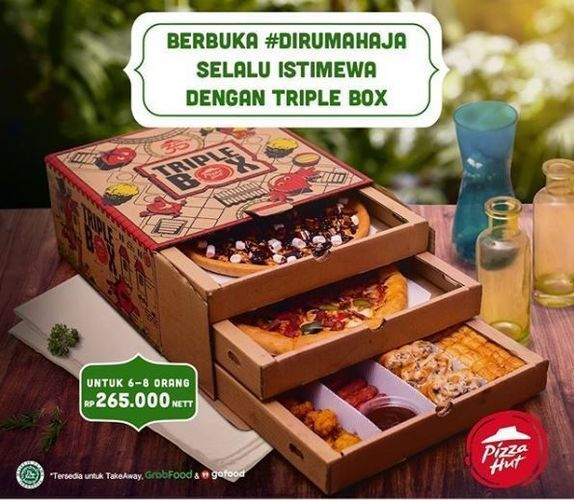 Pizza Hut - Promo Triple Box (26179659) di Kota Jakarta Selatan