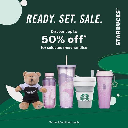 Starbucks Ready Set Sale 50% Off (26192771) di Kota Jakarta Selatan