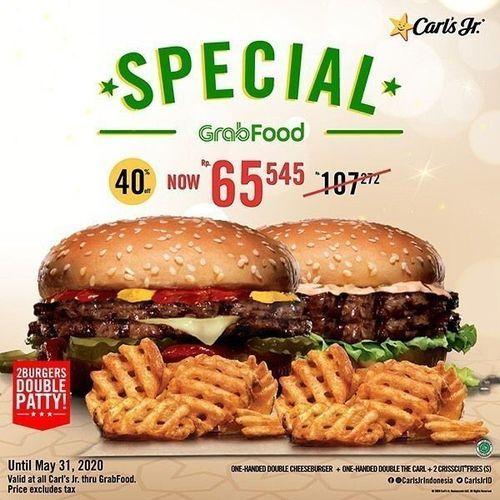 Carls Jr Special Grabfood Promo (26192851) di Kota Jakarta Selatan