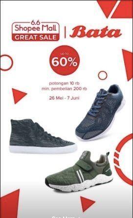 Bata Indonesia ShopeeMall Great Sale 60% Off (26192983) di Kota Jakarta Selatan