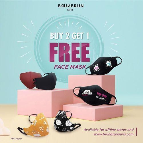 BRUN BRUN Paris BUY 2 GET 1 FREE FACE MASK (26194255) di Kota Jakarta Selatan