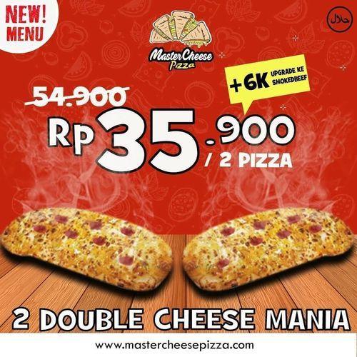 Mastercheese Pizza Rp. 35.900 / 2 Pizza (26202591) di Kota Jakarta Selatan