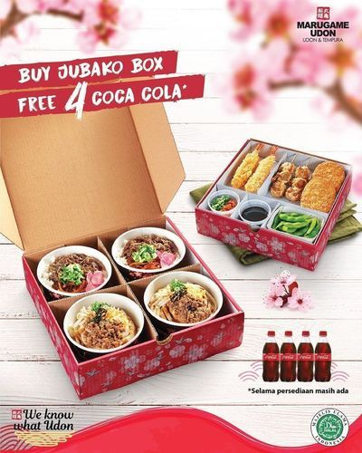 Marugame Udon Buy Jubako Box Free 4 Cola Cola (26202855) di Kota Jakarta Selatan