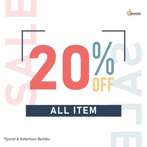 Donatello.co.id 20% Off All Items (26209983) di Kota Jakarta Selatan