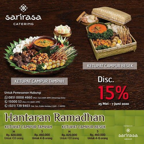 Sarirasa Catering Disc. 15% Hantaran Ramadhan (26222191) di Kota Jakarta Selatan