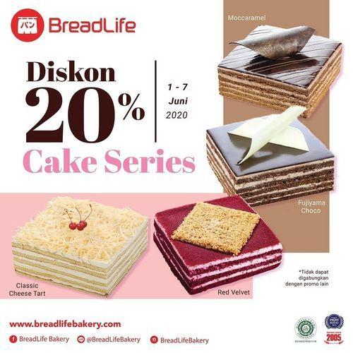 Breadlife Diskon 20% Cake Series (26222223) di Kota Jakarta Selatan