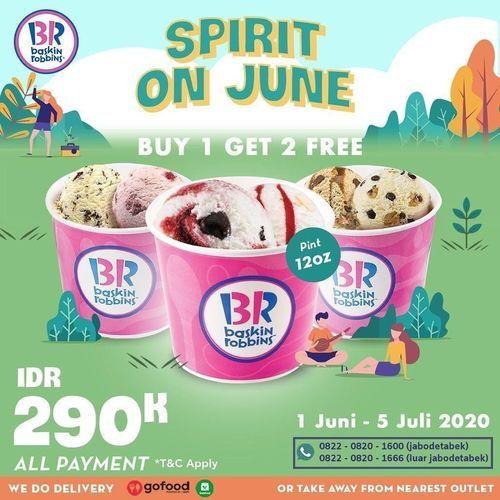 Baskin Robbins Spirit Of June Buy 1 Get 1 (26222263) di Kota Jakarta Selatan