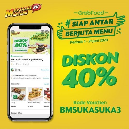Martabakku Menteng Diskon 40% Grabfood (26246907) di Kota Jakarta Selatan