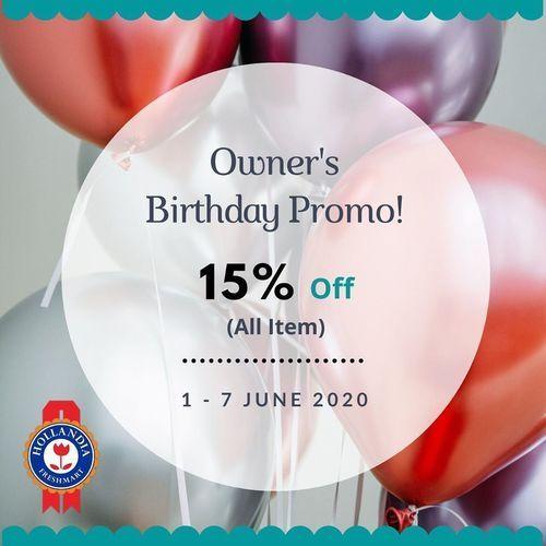Hollandia Freshmarket Owner Birthday Promo 15% Off (26261679) di Kota Jakarta Selatan