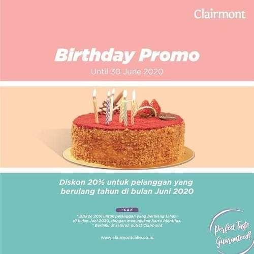 Clairmont Birthday Promo 20% Off (26261715) di Kota Jakarta Selatan