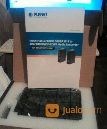PLANET IGT-1205AT Industrial 10/100/1000T To 2-Port 100/1000X SFP Media Converter (26273451) di Kota Jakarta Pusat