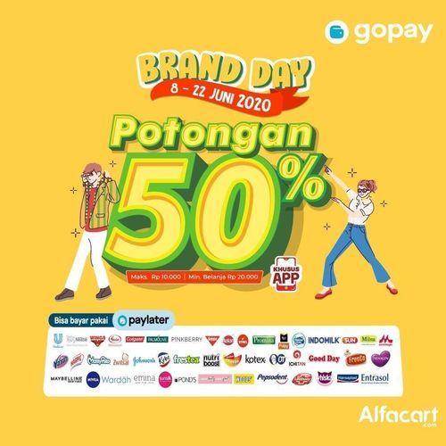 Alfacart x Gopay Brand Day Potongan 50% (26312319) di Kota Jakarta Selatan