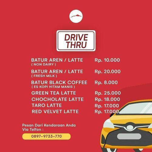 Batur Coffee Drive Thru Menu (26312415) di Kota Jakarta Selatan