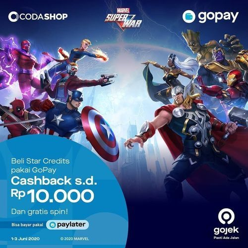 Codashop cashback gopay rp 10.000 (26312715) di Kota Jakarta Selatan