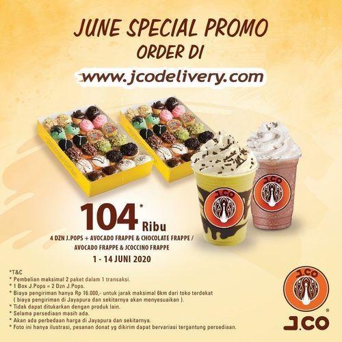 JCO DELIVERY JUNE PROMO 4 LUSIN J.POPS + AVOCADO FRAPPE (26312835) di Kota Jakarta Selatan
