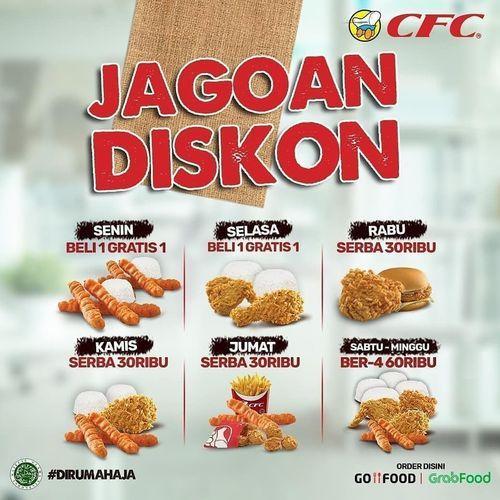 CFC JAGOAN DISKON JUNI - JULI 2020 GRABFOOD / GOFOOD (26320075) di Kota Jakarta Selatan