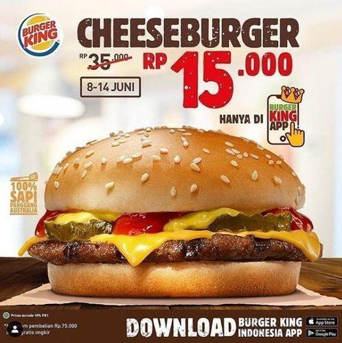 Disqonin - Promo Cheeseburge dir Burger King (26330575) di Kota Jakarta Selatan
