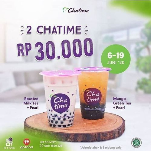 Chatime - Promo 2 Rp 30.000,- via Gofood (26331807) di Kota Jakarta Selatan
