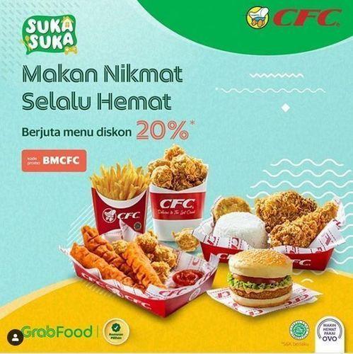 CFC - Promo Diskon 20% via Grabfood (26334167) di Kota Jakarta Selatan