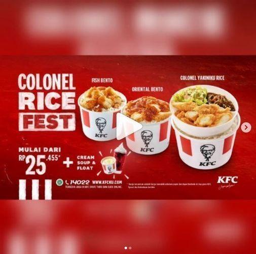 KFC - Colonel Rice Fest (26334231) di Kota Jakarta Selatan