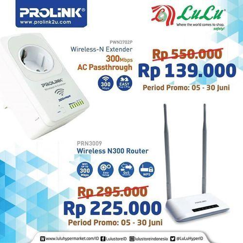 LuLu Hypermart ProLink Wireless Extender / ProLink Wireless Router Special Prices (26339371) di Kota Jakarta Selatan