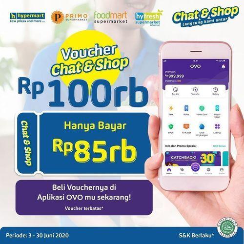 Hypermart Voucher Rp. 100 Ribu Chat & Shop (26339511) di Kota Jakarta Selatan