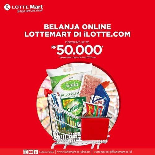 LOTTEMART PROMO BELANJA ONLINE DISKON UP TO RP 50.000 (26340331) di Kota Jakarta Selatan