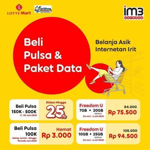 LOTTER MART PROMO PULSA DAN PAKET DATA IM3 (26340451) di Kota Jakarta Selatan