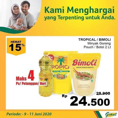 GIANT PROMO MINYAK GORENG HEMAT 15% TROPICAL/BIMOLI (26341175) di Kota Jakarta Selatan