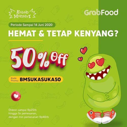 KEBAB MONSTER PROMO GRABFOOD 50% OFF (26378551) di Kota Jakarta Selatan