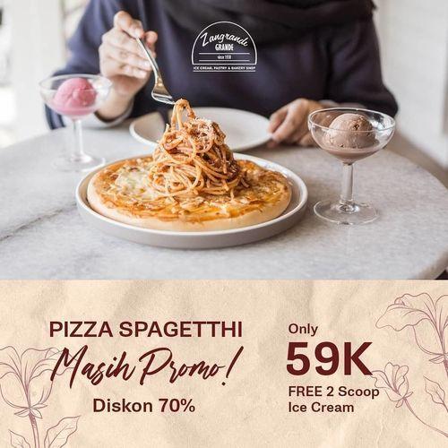 ZANGRANDI GRANDE DISKON 70% SPAGHETTI PIZZA ONLY 59K free 2 scoop ice cream (26378695) di Kota Surabaya