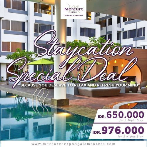 Mercure Alam Sutera Staycation Special Deal (26379747) di Kota Jakarta Selatan