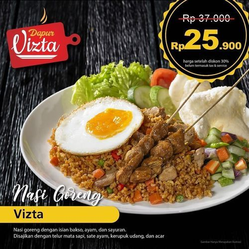 DAPUR VIZTA NASI GORENG VIZTA ONLY RP 25.000 (26388999) di Kota Jakarta Selatan