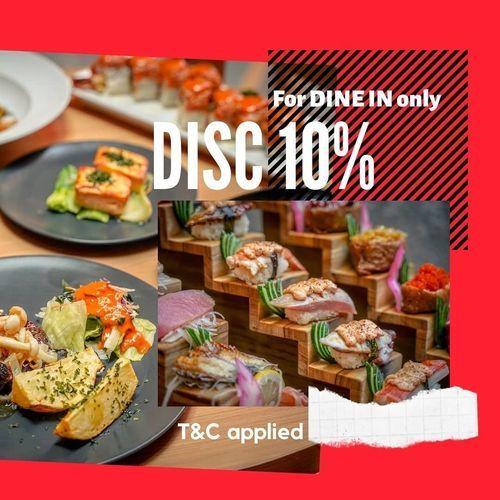 IZAKAYA GO DISCOUNT 10% FOR DINE IN ONLY (26389079) di Kota Surabaya
