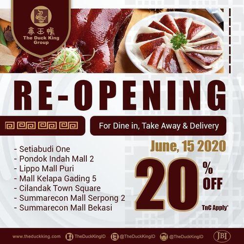The Duck King Re-Opening Promo 20% Off (26389711) di Kota Jakarta Selatan