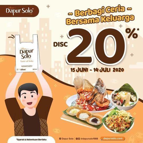 Dapur Solo Berbagi Ceria Bersama Keluarga Disc. 20% (26389835) di Kota Jakarta Selatan