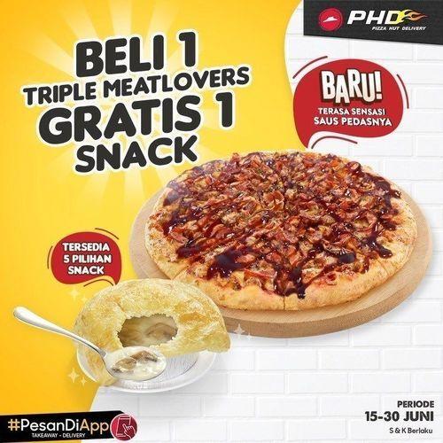 Pizza Hut Delivery Beli 1 Gratis 1 Snack (26389883) di Kota Jakarta Selatan