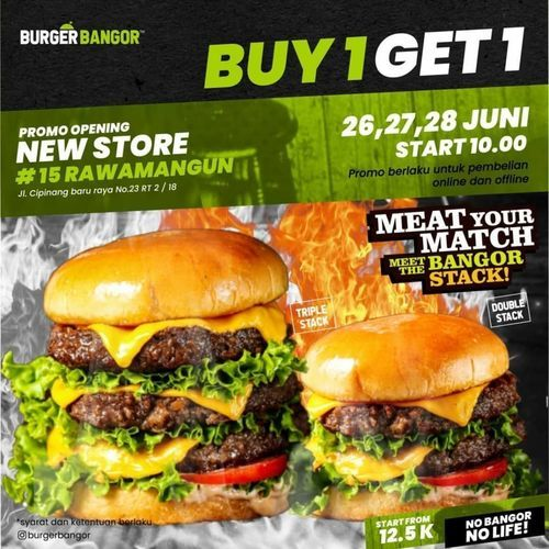 Burger Bangor Promo Buy 1 Get 1 (26398227) di Kota Jakarta Selatan